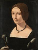 Джованни Антонио Больтраффио. Портрет дамы в образе святой Лючии
