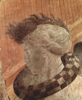 Паоло Уччелло. Всемирный потоп и Ковчег, плывущий по волнам, фрагмент