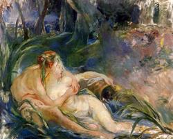 Berthe Morisot. Two nymphs embracing
