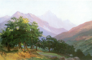 Nikolai Nikolaevich Ge. Oaks in the mountains of Carrara
