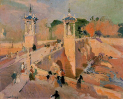 Joaquín Sorolla. The present bridge