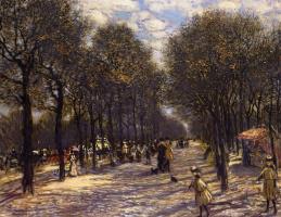 Жан-Франсуа Рафаэлли. Аллея деревьев на Елисейских полях