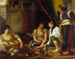 Eugene Delacroix. Algerian women