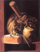 Геррит Доу. Натюрморт с книгой и кошелек