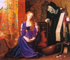 Arthur Hughes. Heart hurts (Juliet and her nanny)