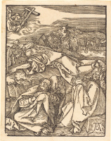 Альбрехт Дюрер. Христос на горе Елеонской. Моление о чаше