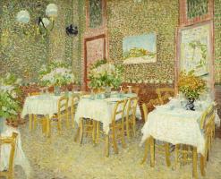 Vincent van Gogh. The interior of the restaurant