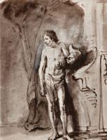 Рембрандт Ван Рейн. Стоящий обнаженный