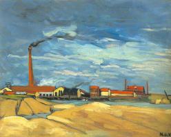 Морис де Вламинк. Бумажная фабрика в Нантре