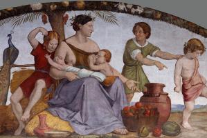 Иоганн Фридрих Овербек. Фрески из Дома Бартольди - Семь тучных лет 1816-1817  деталь