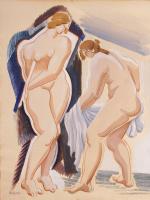 Александр Архипенко. Две обнаженные женские фигуры с покрывалом