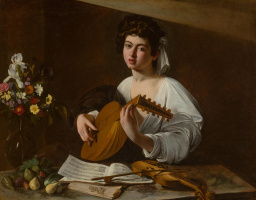 A young man with a lute