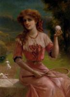 Эмиль Вернон. Девушка в розовом