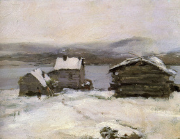 Konstantin Korovin. Winter in Lapland