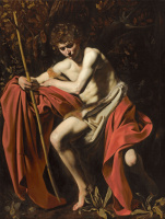 Микеланджело Меризи де Караваджо. Святой Иоанн Креститель в пустыне