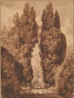 Жан Оноре Фрагонар. Аллея кипарисов на вилле д'Эсте