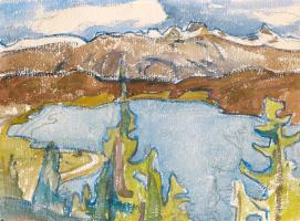 Джованни Джакометти. Вид на озеро