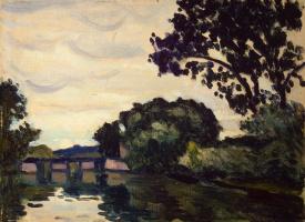 Марке, Альбер. Пейзаж с мостом