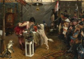 Paul Friedrich Meyerheim. Dog trainer