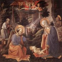 Фра Филиппо Липпи. Поклонение младенцу