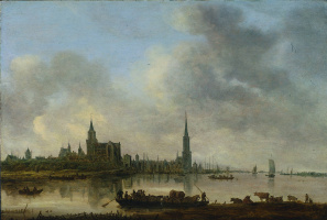 Jan van Goyen. View of the Emmerich
