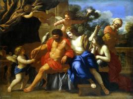 Giovanni Francesco Romanelli. Hercules and omfala