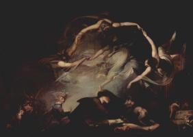 Johann Heinrich Fuessli. The dream of the shepherd