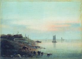 Лев Феликсович Лагорио. Закат (Нормандский берег)