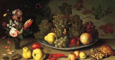 Балтазар ван дер Аст. Натюрморт с фруктами и цветами в вазе