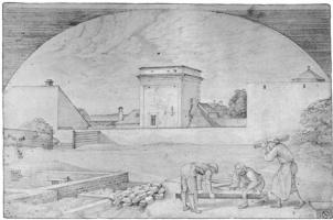 Фердинанд Оливье. Строители на возведении дома