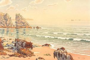 Анри (Henri) Ривьер (Rivière). Пляж (La Plage)