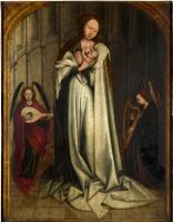 Робер Кампен. Дева с младенцем в апсиде с двумя ангелами