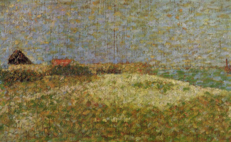 Georges Seurat. Fort Samson in Grandcamp, sketch
