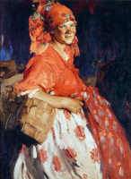 Абрам Ефимович Архипов. Молодая девушка