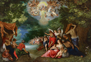 Ян Брейгель Старший. Крещение Иисуса Христа
