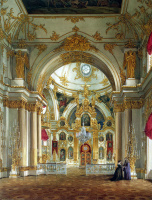 Эдуард Петрович Гау. Вид Собора в Зимнем дворце