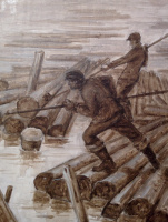 Arkady Pavlovich Laptev. Wood rafting