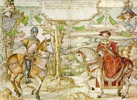 Бернард ван Орлей. Граф Генрих I из Нассау со своей невестой