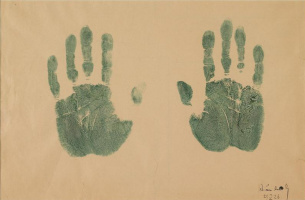 Wassily Kandinsky. Handprints of the artist
