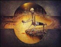 Клод Верлинд. Скелет с головой