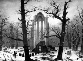 Каспар Давид Фридрих. Монастырское кладбище в снегу