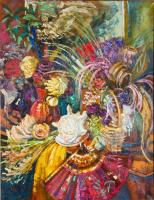 Екатерина Антропова. Натюрморт с морской раковиной и сухими цветами