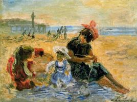 Андре Хамбоург. Дети на пляже