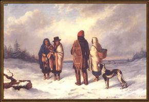 Корнелиус Криегхофф. Индеец в снежном пейзаже