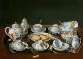 Жан-Этьен Лиотар. Натюрморт с чайным сервизом