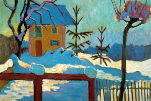 Gabriele Münter. The house in the winter sun