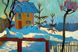 Gabriele Münter. The house in the winter sun