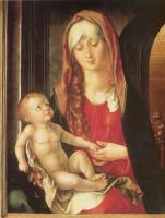 Альбрехт Дюрер. Мария с младенцем перед аркой ворот