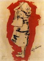 Марсель Дюшан. Ивонна (в кимоно)