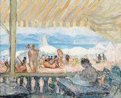 Henri Lebasque. Beach bar
